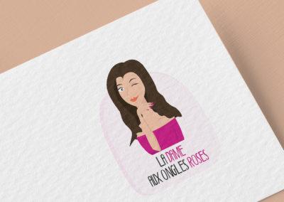 Logo La dame aux ongles roses