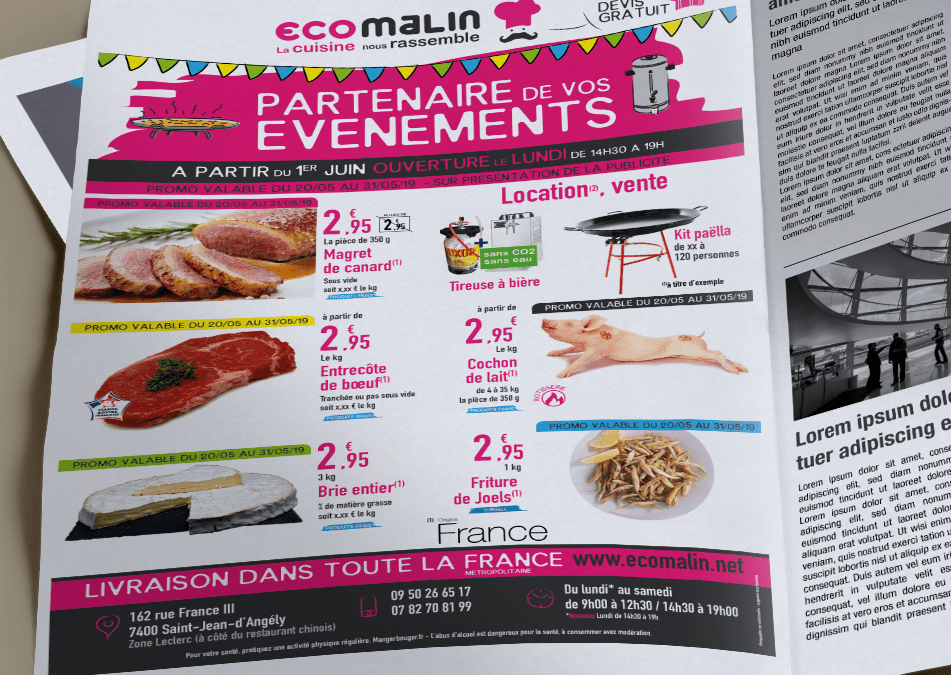 Encart Presse – Ecomalin