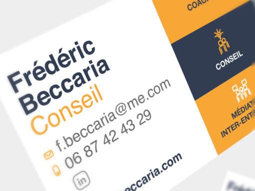 Carte de visite – Frédéric Beccaria Conseil