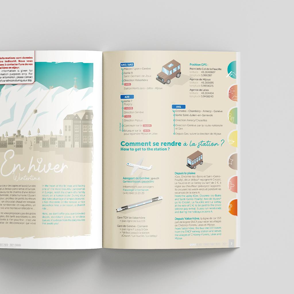 Brochure guide touristique intérieur