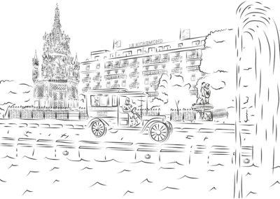 Illustration blanc Le Richemond Genève
