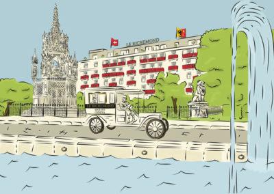 Illustration couleur Le Richemond Genève