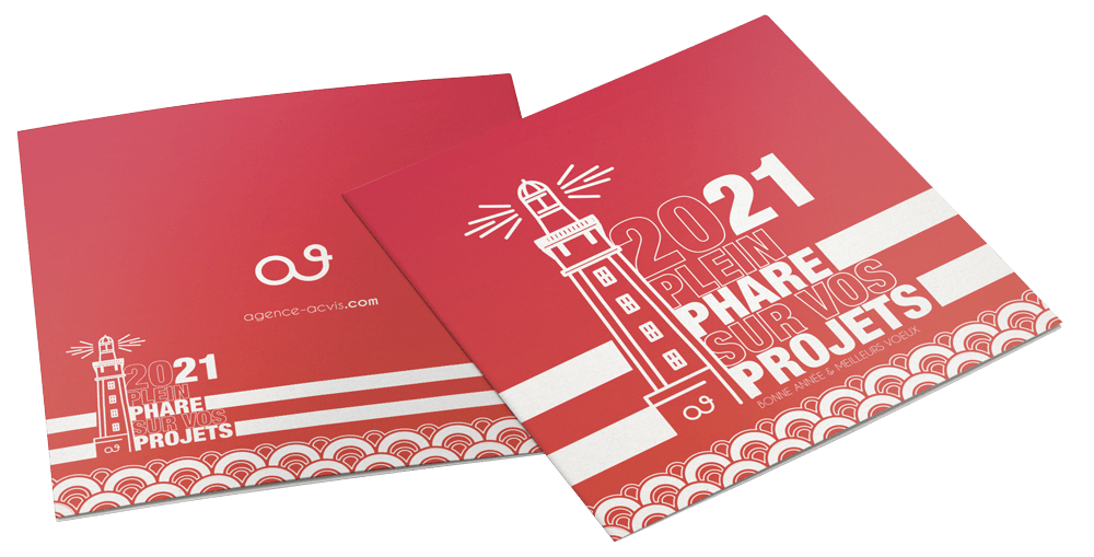 Carte de voeux 2021 imprimée acvis