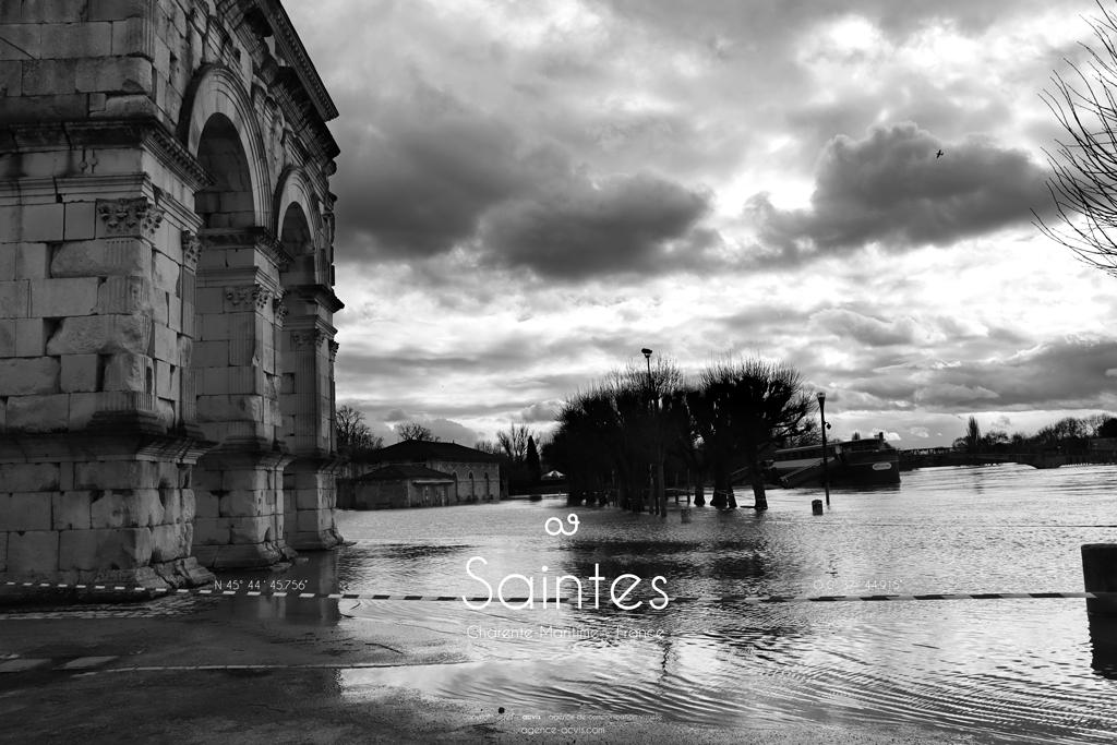 Saintes - Charente inondation 2021 Terrain blanc