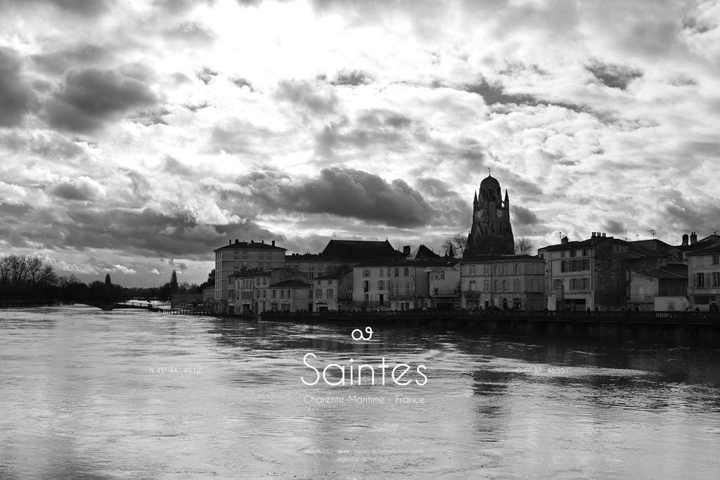 Cathédrale Saint-Pierre Saintes inondation 2021