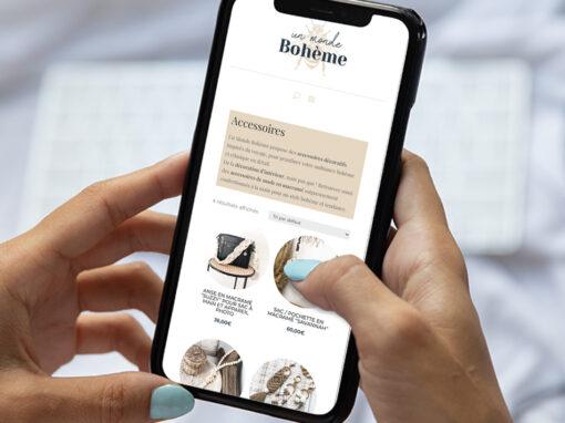 Création du site e-commerce Un Monde Bohème
