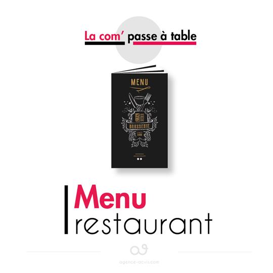 la com passe à table - menu restaurant