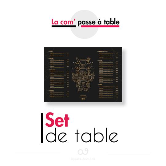 la com passe à table - set de table
