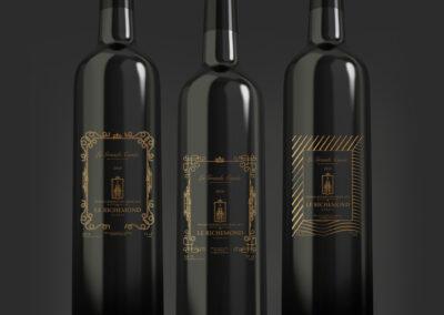 Etiquettes de bouteille de Vins Le Richemond