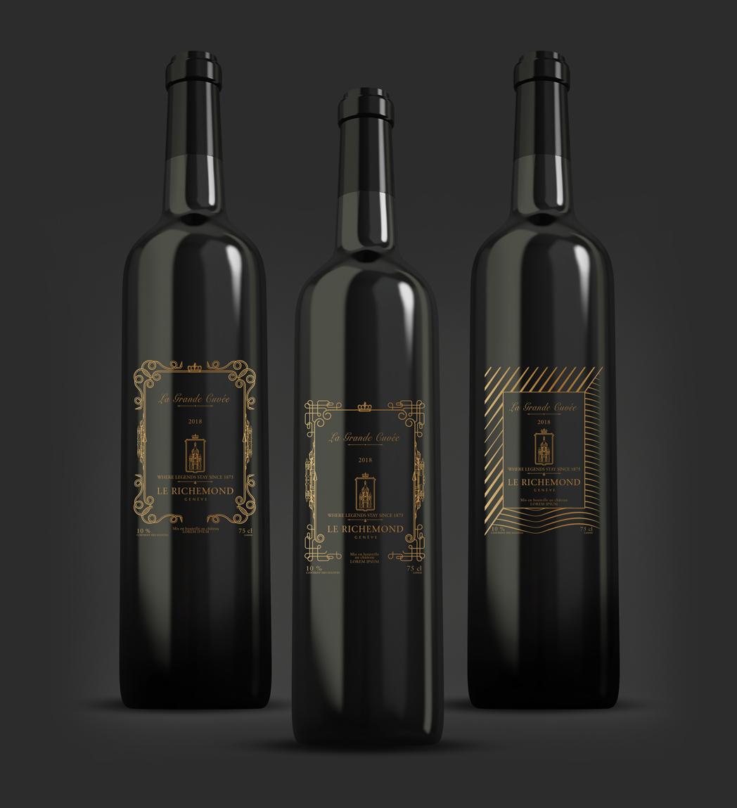 Projet Etiquettes bouteilles de vin Le Richemond